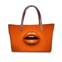 BEINISHI Fashion Women Handbag Shoulder Bags Red Sexy Lips Top Handle Bags For Women Casual Tote