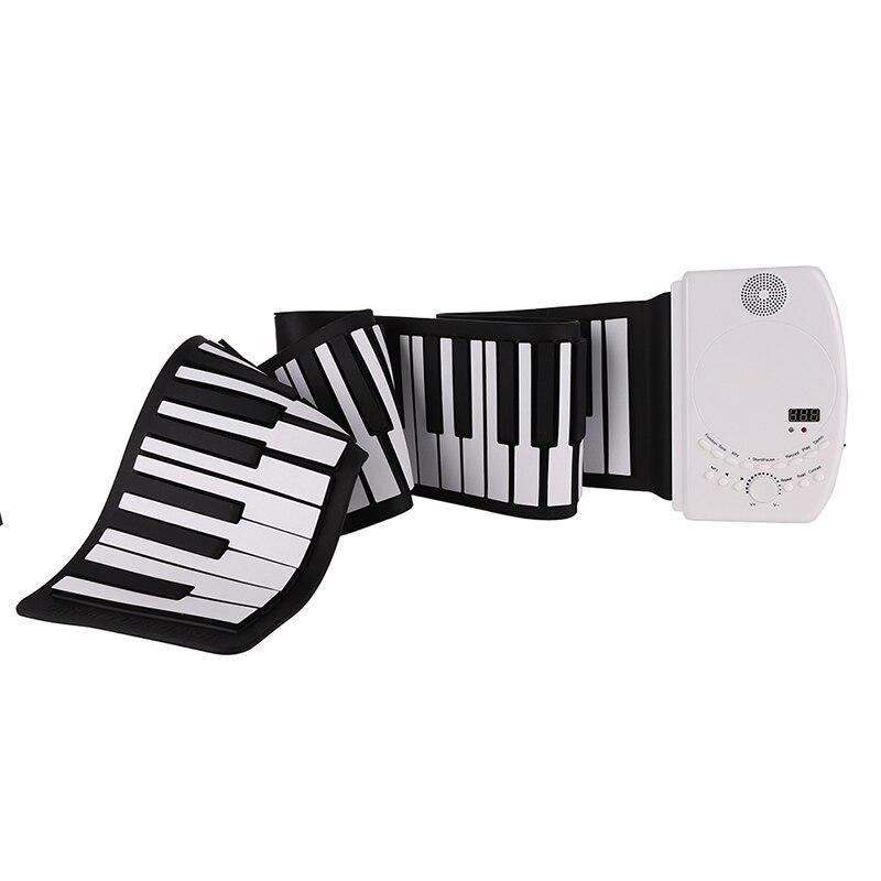 USA expédition Portable 88 touches 129 tons numérique électronique orgue retrousser clavier Piano pliable Silicone clavier Piano