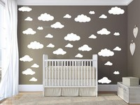 42pcs Mixed 4size Cartoon Clouds Shape Wall Sticker Removable DIY Wall ART For Kids Room Decor