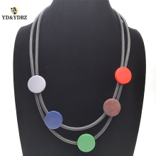 YD&YDBZ 2019 New Multicolor Pendant Necklaces Designer Handmade Bohemia Style Choker  Women Jewelery