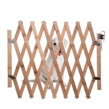 Folding Cat Pet Dog Barrier Wooden Bamboo Safety Gate Expanding Swing Puppy Fence Door Simple Stretchable Wooden Fence цена 2017