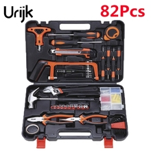 Urijk 82Pcs/set Most Complete Multifunctional Precision Hardware Household  Electrician Carpentry Maintenance Hand Tool Set