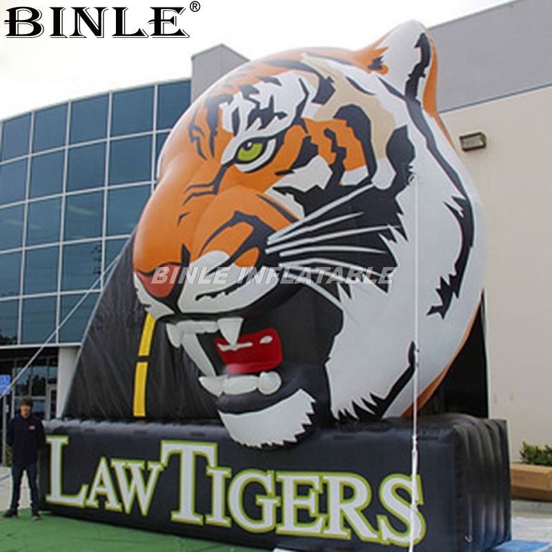 Customized large <font><b>inflatable</b></font> tiger head <font><b>billboard</b></font> balloon for company advertising supply customize design China factory image