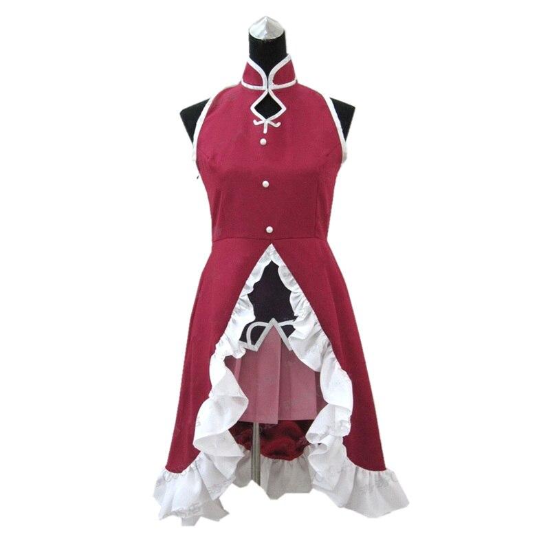 Anime High Quality Puella Magi Madoka Magica Kyoko Sakura Cosplay Costume Custom Made    1