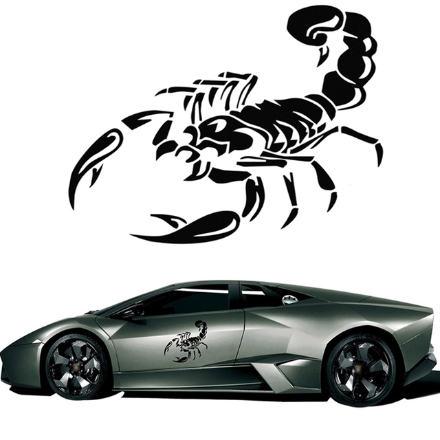 30cm cute scorpion motorcycle car stickers decals car styling stickers funny car stickers cover the scratch