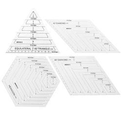 Transparent Quilten Nähen Patchwork Handwerk Skala Lineal Hexagon Diamant Lineal DIY Handgemachte Schneider Hause Nähen Werkzeuge