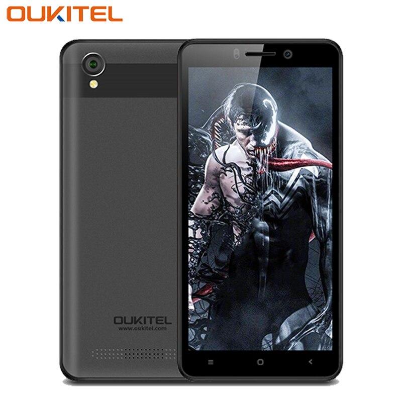 Oukitel C10 téléphone portable 5.0 pouces 18:9 affichage 1 GB RAM 8 GB ROM Quad Core MTK6580 Android 8.1 double SIM 2000 mAh Smartphone