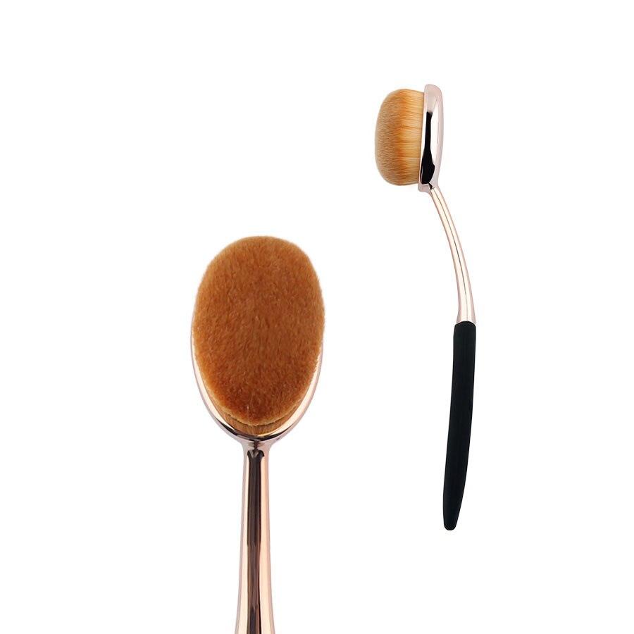 1 шт. розовое золото Овальный Макияж Расчёски для волос Синтетические волосы Профессиональный Основа для макияжа лица составляют Расчёски для волос для жидких продуктов