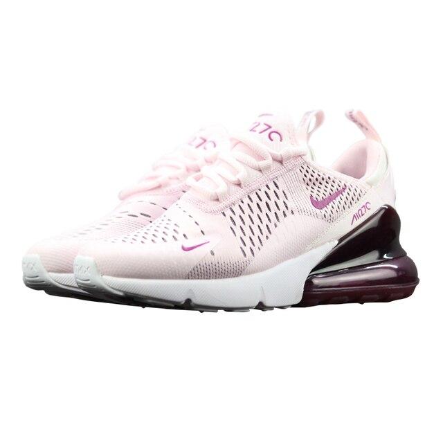 NIKE AIR MAX 270 Women's Running Shoes, White Pink