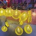 QYJSD 3 м/6 м/7 5 м креативные лимон рождественские провода освещение струнные Феи огни для внутреннего новогоднего Рождества свадьбы украшения