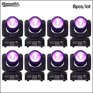 Image 1 - 60ワットrgbwヘッド移動ビームled 4in1舞台照明ミニdjライト8ピース/ロット