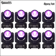 60W Rgbw Moving Head Beam Led 4in1 Podium Verlichting Mini Dj Licht 8 Stks/partij