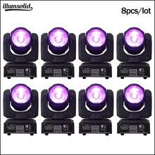 60w RGBW Moving Head Fascio Led 4in1 Fase di Illuminazione Mini DJ Della Luce 8 pz/lotto
