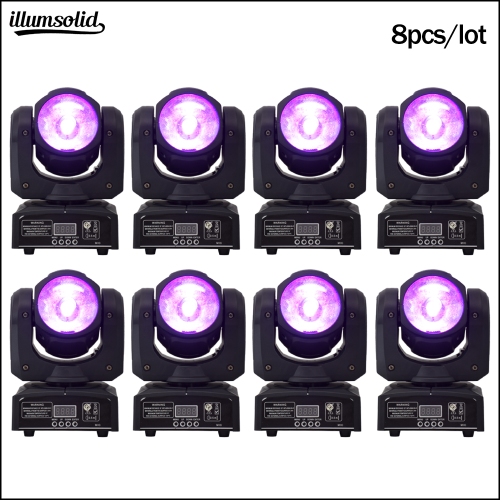 60w RGBW Moving Head Beam Led 4in1 Stage Lighting Mini DJ Light 8pcs/lot