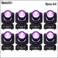 60w RGBW ruchoma wiązka Led 4w1 oświetlenie sceniczne Mini DJ światło 8 sztuk/partia