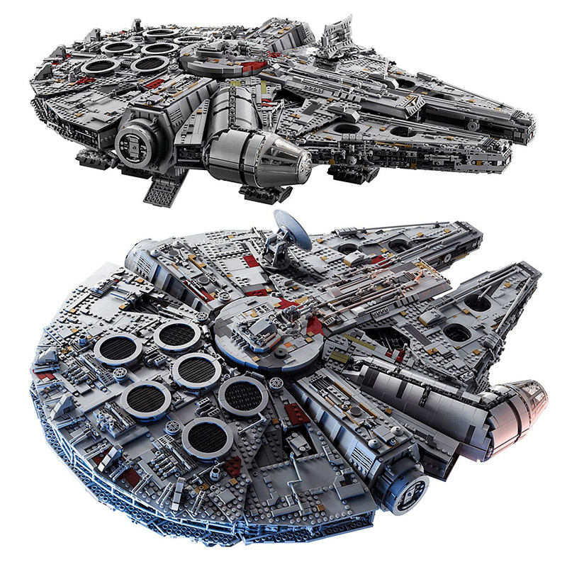 8445Pcs Ultimate Collector's Destroyer Star Wars Millennium Falcon Building Blocks Compatible With Legoings Star War 75192 фотообои star wars star wars millennium falcon 3 68х2 54 м
