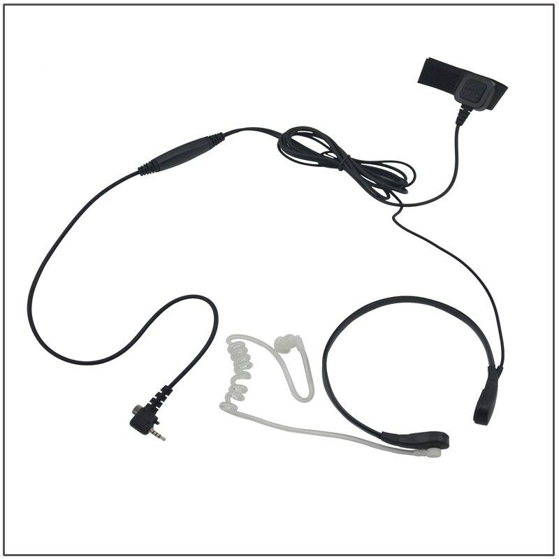 Casque d'écoute de micro de gorge de Tube acoustique avec le micro de PTT pour le talkie-walkie Sepura SRH3800 SRH3500 SRP3000 SRP2000