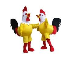 Новинка 2017 года петух талисмана петух Хэллоуина Рождество забавные животные курица талисман одежда взрослый размер