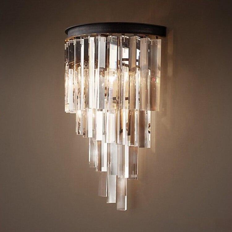 Lights & Lighting Lamps & Shades Indoor Wall Sconce Crystal Wall Mounted Light Bedroom Lamp Bathroom Light Fixtures Vintage Restaurant Decor Wall Lamp Crystal