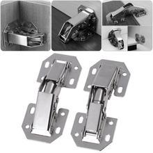 10 Uds 3in forma de puente de gabinete de puerta de armario bisagras amortiguador Cierre Suave para gabinete de herrajes para mobiliario de cocina