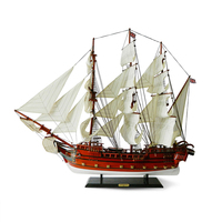 96 см Парусник модель украшения из дерева ручной работы в британском стиле Бизнес подарки Средиземноморский Craft лодка руководство Европейск