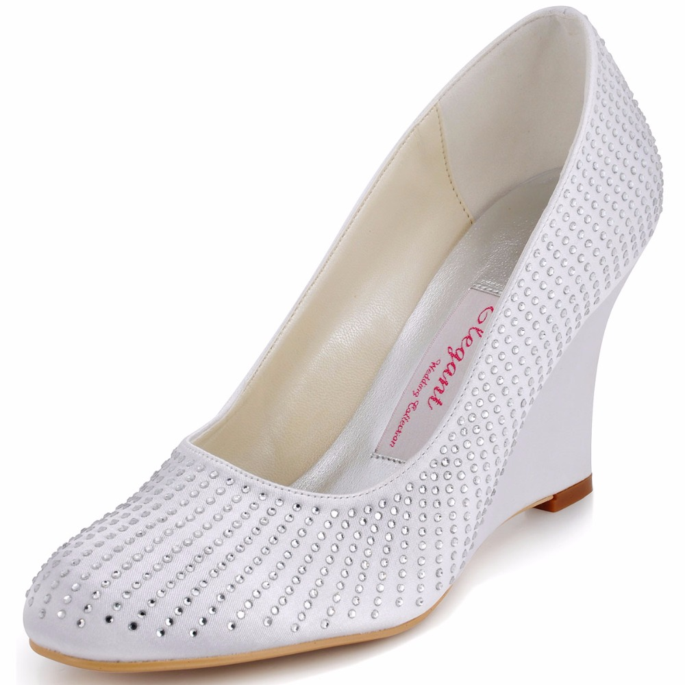 Shoes Woman EP2002 White Formal Evening Party Pumps Lady ...