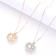 Gorgeous Charm Heart-Shaped Necklace Fashion Love Jewelry Gold And Silver Noble Luxury Ladies Holiday Gift