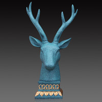 Animal Head Decoration Deer Head Sculpture Resin Animal Statue Home Decoration Creative Gift Craft Ornament Furnishing Hertenkop