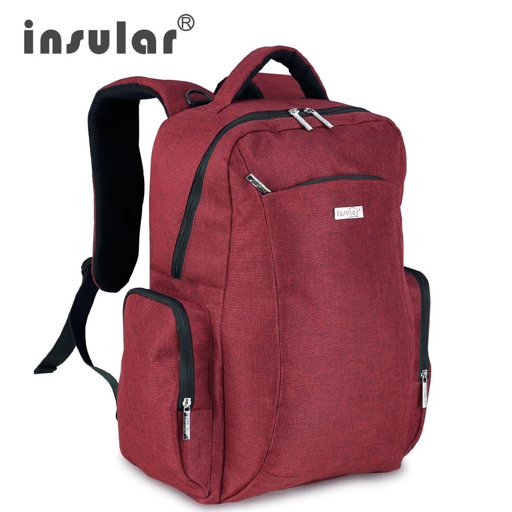 Marca Insular bolso de pañales de bebé maternidad mochila estilo de - Pañales y entrenamiento para ir al baño - foto 1
