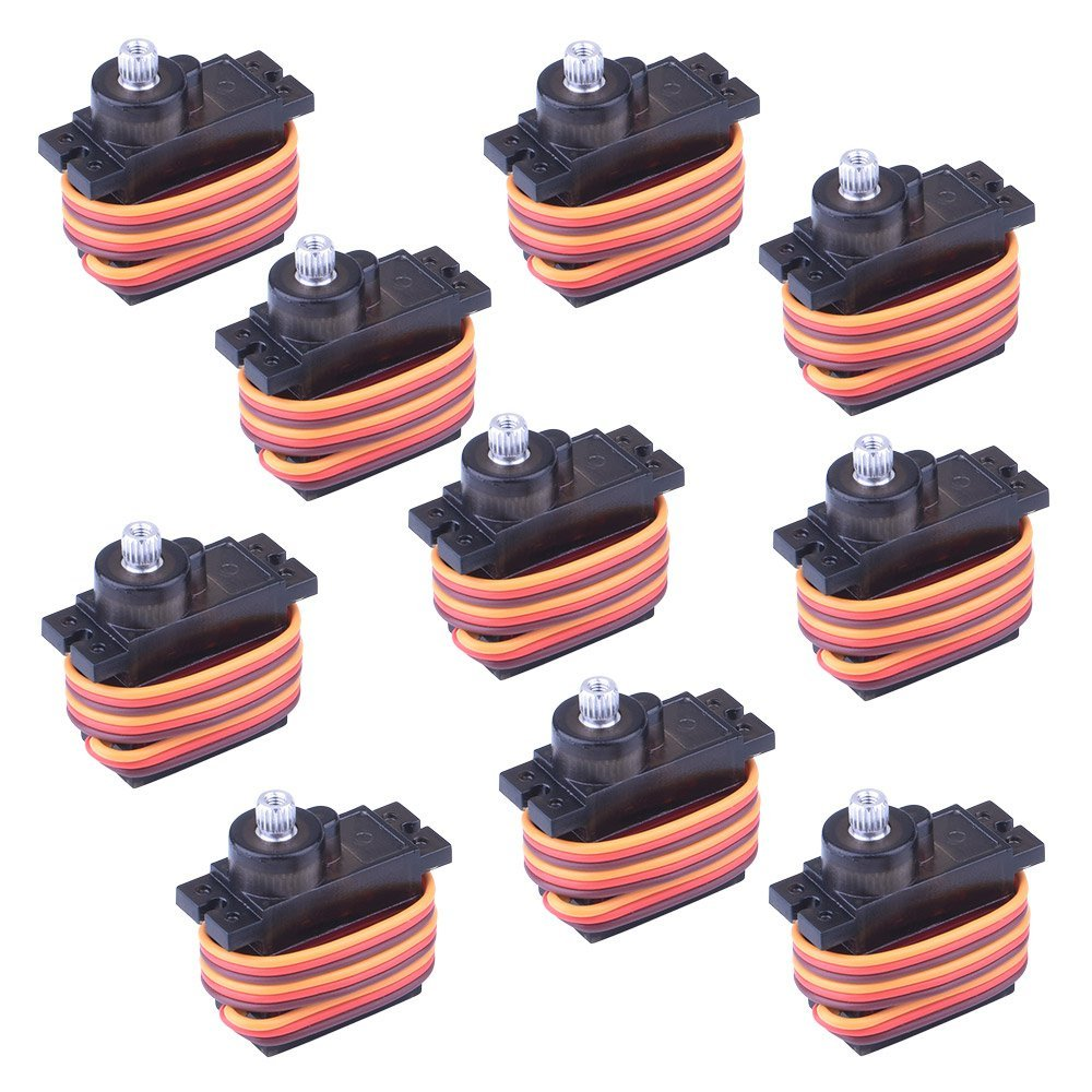 ФОТО Miroad  10x Pcs MG90S Metal Geared Micro Servo Motor 9G For Helicopter Airplane Boat Controls mini Servo 450 KY61
