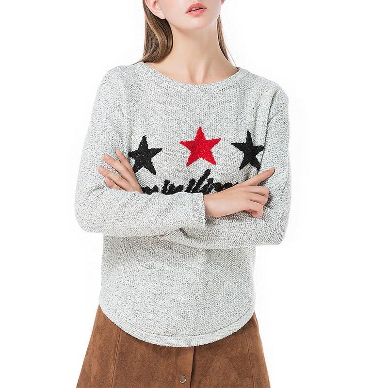 2018 Kwaii Winter Sweater Pullover Femme Long Sleeve Christmas Sweater Women letter printed sweater Jumper Knitting Pull Femme