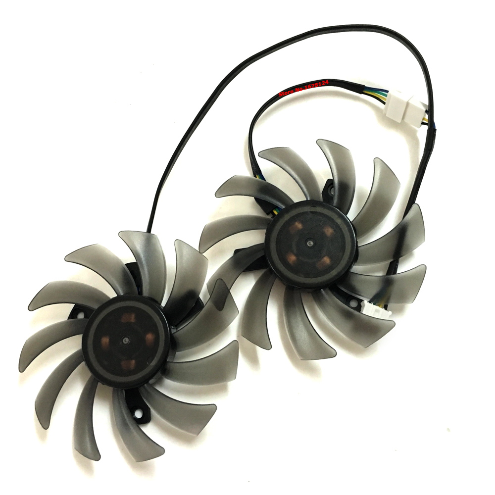 2 Pcs/set T128010SH Cooler Fan Radiator For ASUS HD7770 R7260X R7 260X Video Graphics Card Cooling As Repalcement