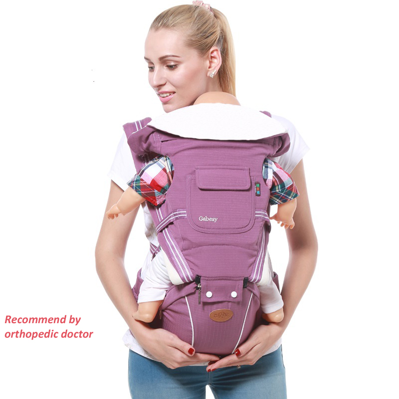 Ergonomic Baby Carrier Backpack Adjustable Baby Toddler Sling With Hipseat Infant Kangaroo Bag Prevent o-type Legs Carrier Wrap gabesy baby carrier ergonomic carrier backpack hipseat