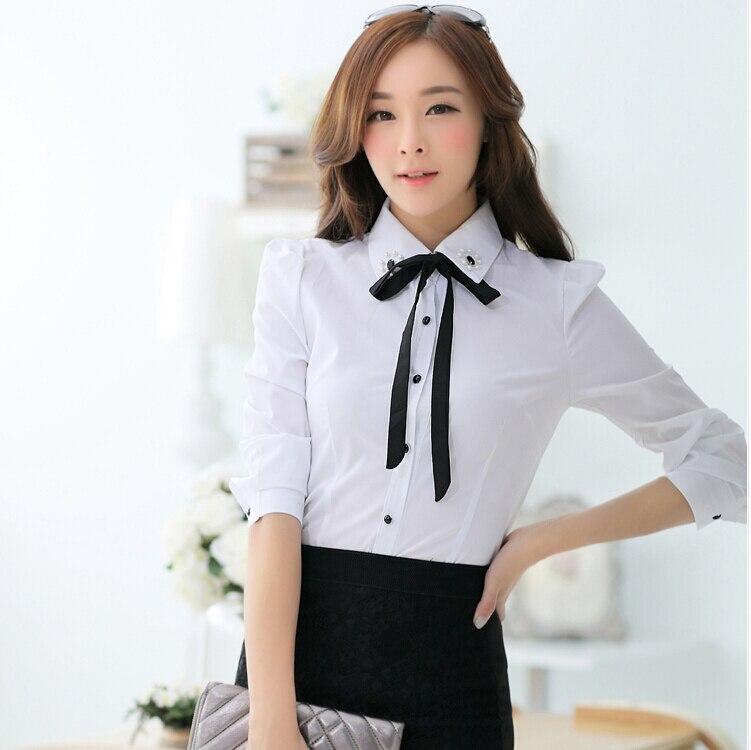 Camisa blusas femininas 2015 ladies office work shirt for Work polo shirts for women