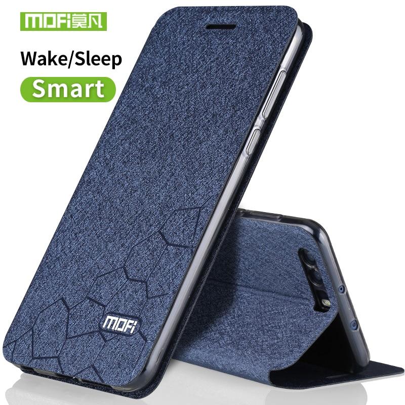 Funda Huawei honor 9 funda de silicona de lujo flip cuero original mofi Huawei honor 9 funda 5,15 transparente tpu fundas de metal