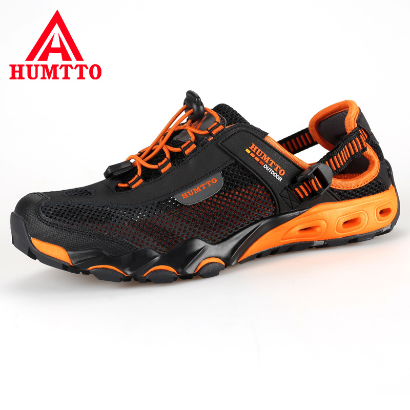 HUMTTO Summer Sandals Outdoor Leather Mesh Beach Breathable