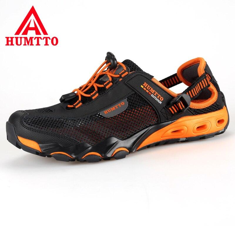 Sandalias Verano para Hombres al Aire Libre de Cuero de Malla para Playa Transpirable Zapatos Hombres de Marca de Lujo Moda Casual Zapatos Ajustable para hombre talla Grande 36 -45 Resistente al Agua