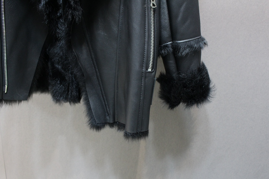 women natural leather and fur winter jacket warm (28)