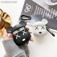 BearBrick רך PVC עבור Apple Bluetooth אוזניות Airpods 1 2 אוניברסלי מגן Case כיסוי