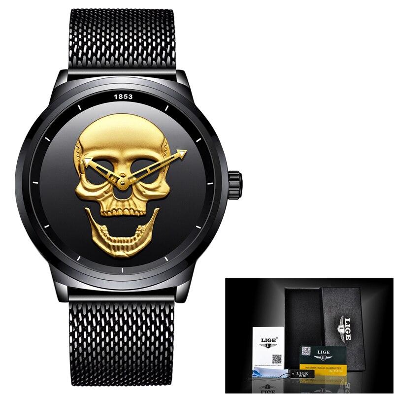 """2018 """"New Man Watch"""" ženklas LIGE vyrų mados kvarco laikrodis - Vyriški laikrodžiai - Nuotrauka 6"""