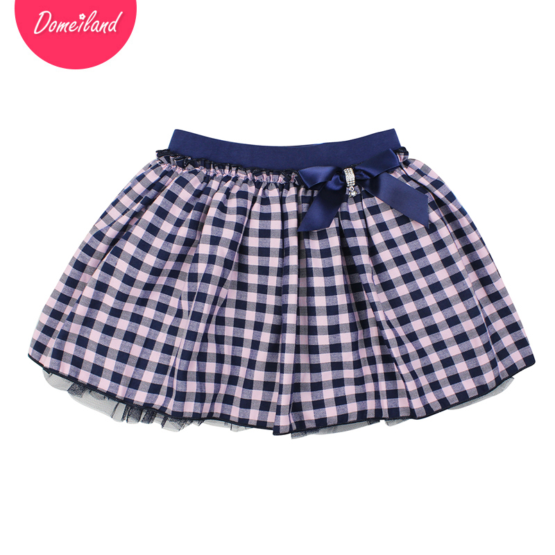 2017 Fashion brand domeiland spring Kids Girls clothing Tutu Skirt For Cotton Bow Children party beautiful