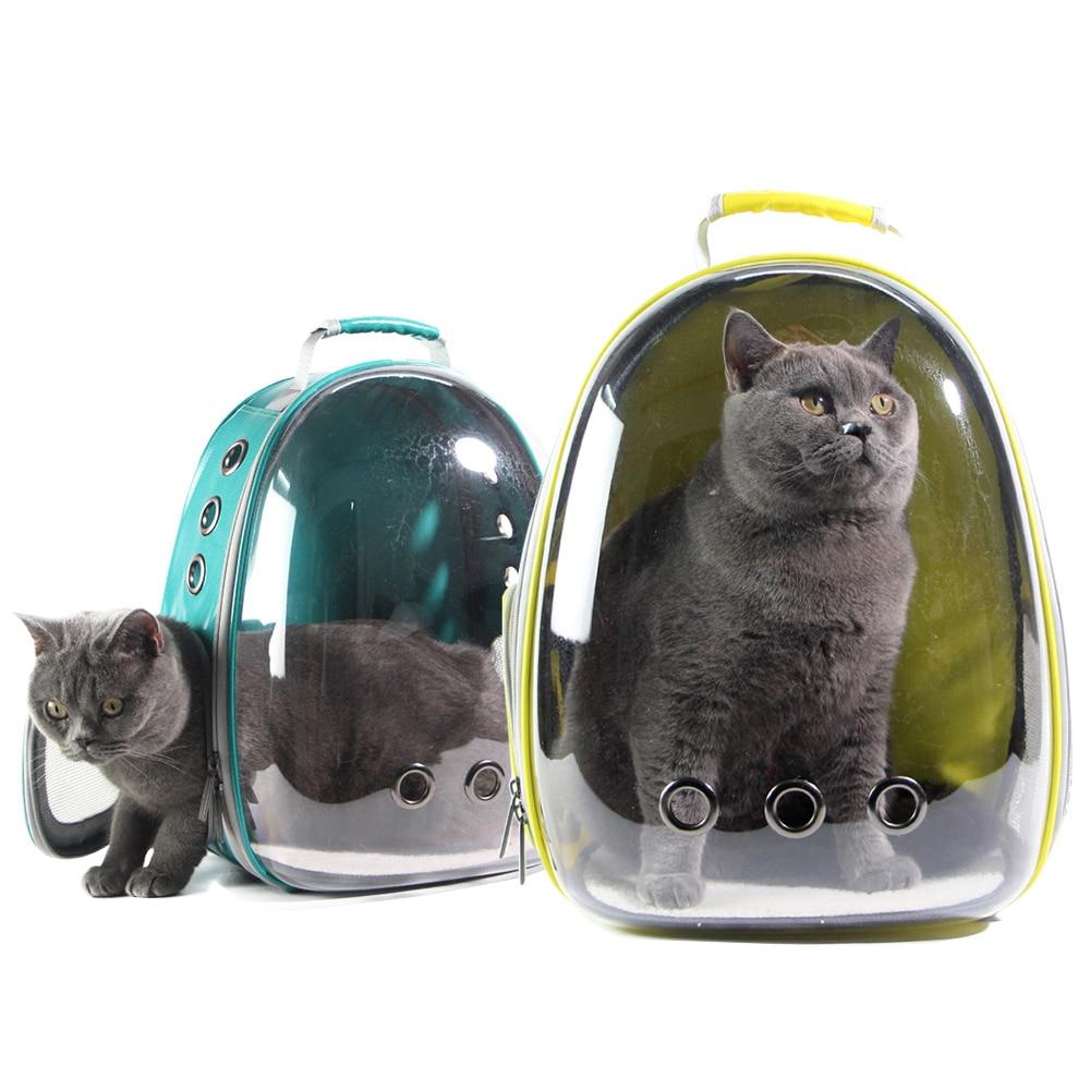 Pet gato portador transparente cão mochila para pequenos cães filhote de  cachorro saco panorâmico espaço cápsula viagem bolsa aérea  respirável|Carrinhos| - AliExpress