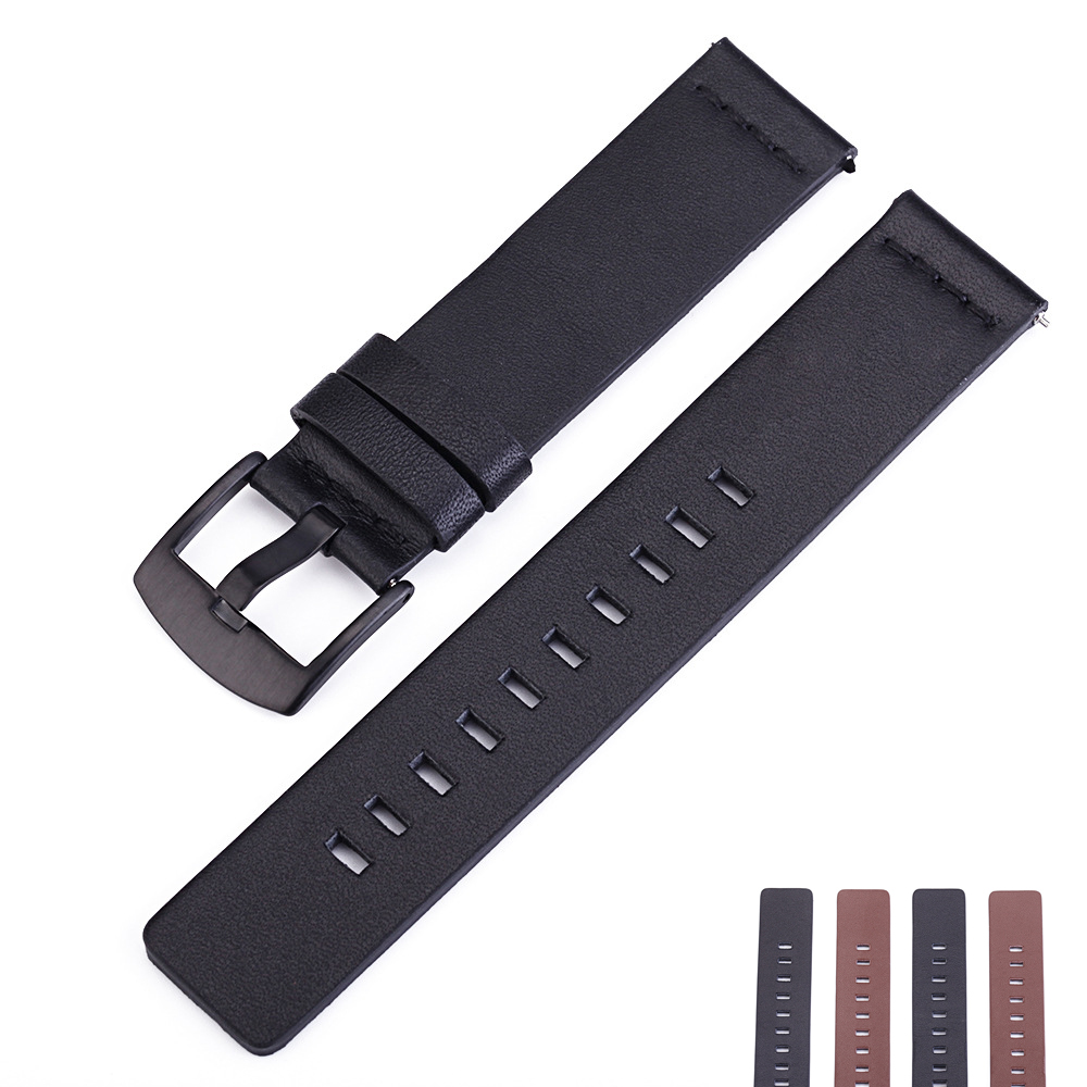 Genuine Leather Watchband Watch Strap,Replacement Leather Wristband <font><b>Band</b></font> Strap Bracelet for Samsung Gear S3 <font><b>Moto</b></font> <font><b>360</b></font> image