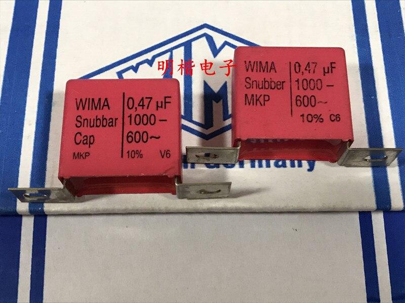 2019 Offre Spéciale 10 pcs/20 pcs Allemagne WIMA Snubber MKP Cap 1000 V 0.47 UF 474 470N fer pied audio condensateur livraison gratuite