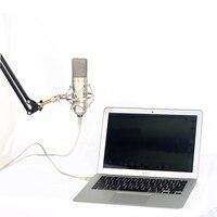 Разъем USB Ручной конденсаторный микрофон Запись для персонального компьютера/ноутбук/Studio/Broadcast