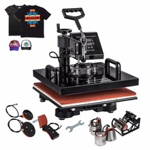 Newest Condition 8 in 1 Combo Heat Press Machine Sublimation Heat Press Heat Transfer Machine T-shirt Mug Hat Cap Plate