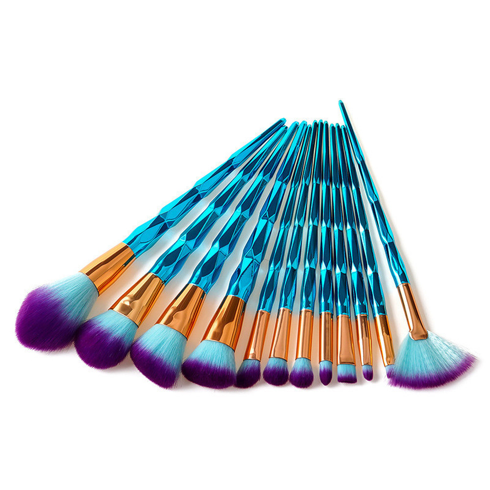 Professional Diamond Makeup Brushes Set Foundation Blending Powder Eyeshadow Contour Blush Cosmetic Brush Beauty Make Up Tools