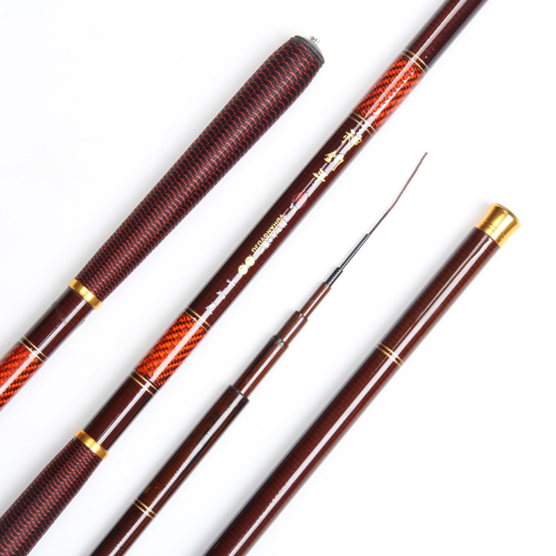 2.7M-7.2M super light super hard god fishing hand carbon fish pole stream rod short section carbon hand bar