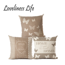 18x18 inches Cotton Linen Quote Cushion Cover Cover Romantic Valentine Day Gift Pattern Pillowcase Throw Pillow Cover