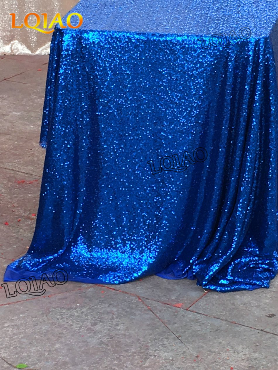 royal blue sequin tablecloth-007